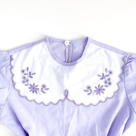 flower embroidery dress (dead stock)