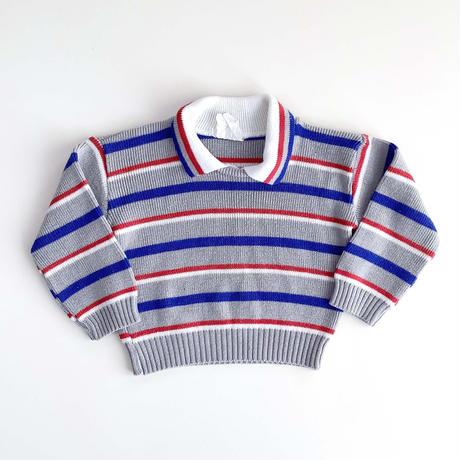 stripe knitting tops