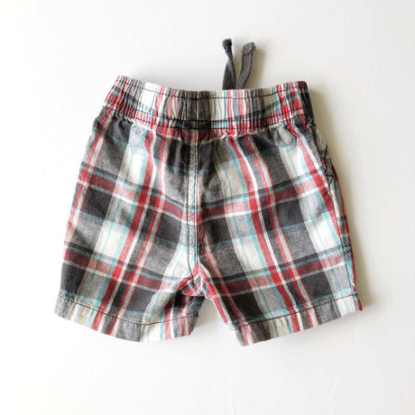 plaid pants _red mix