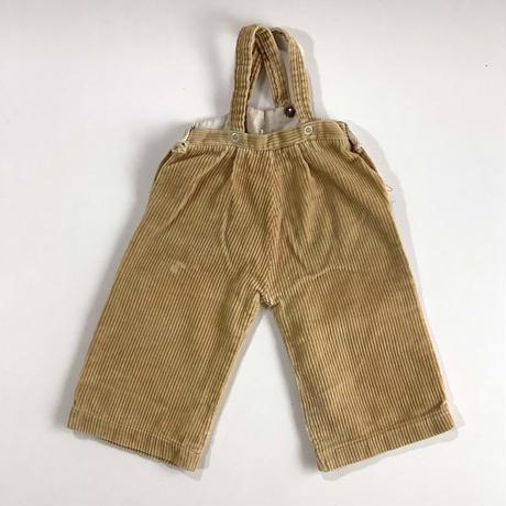 60s beige corduroy overalls