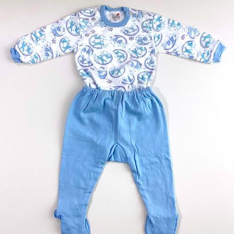 rabbit textile pajamas (dead stock)