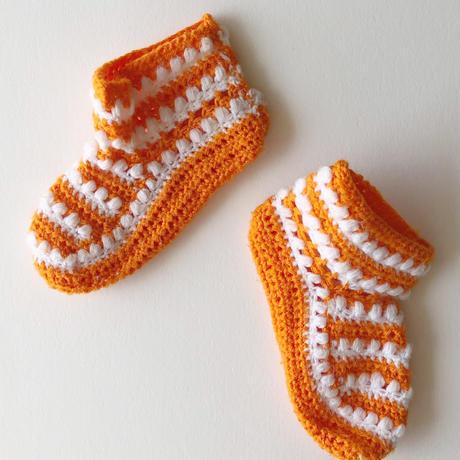 70s crochet booties