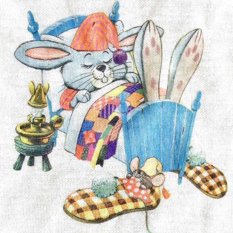 70s rabbit romper  (dead stock)