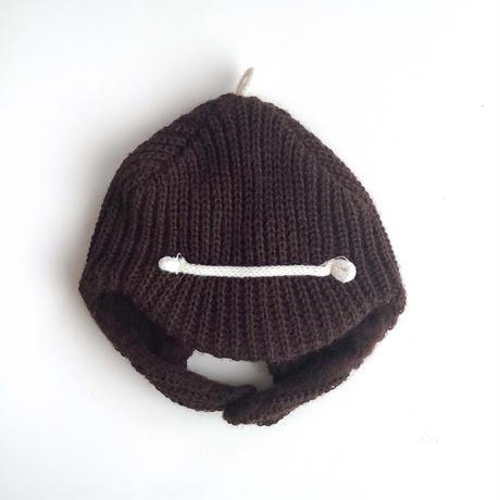 brown knitting bonnet (dead stock)