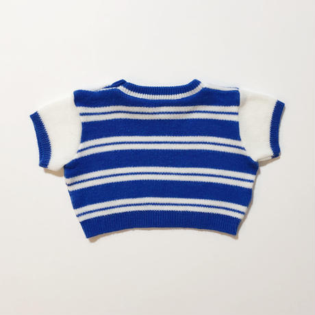 knitting stripe tops & pants outfit