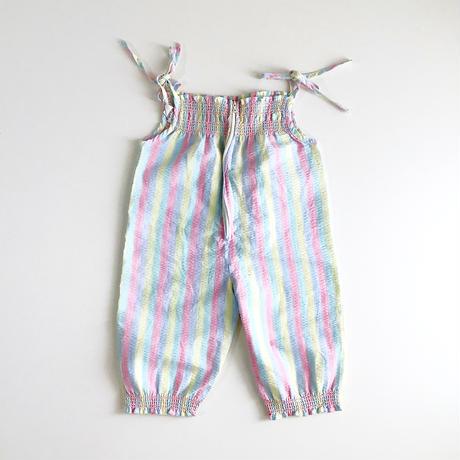 stripe overalls