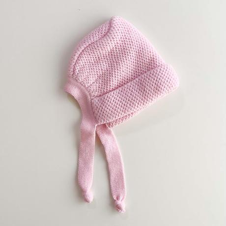 pink knitting bonnet (dead stock)