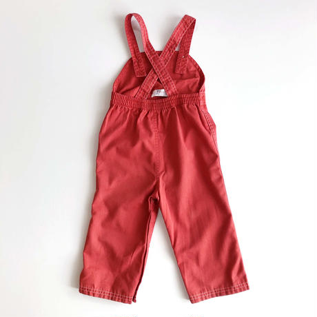LACOSTE red overalls