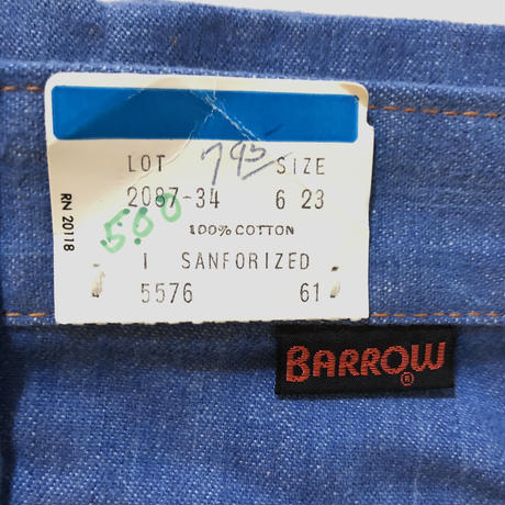 70s BARROOW denim (dead stock)