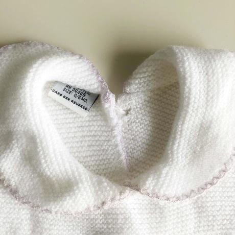 white crochet romper (dead stock)