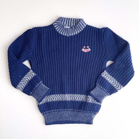 navy knitting sweater (dead stock)