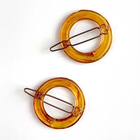 50s circle hair clip (dead stock)