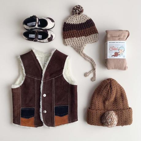 brown knitting hat (dead stock)