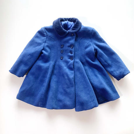 70s blue coat&pants&hat set