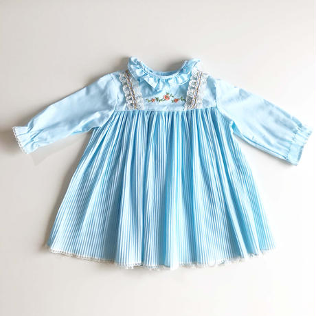 light blue pleats dress