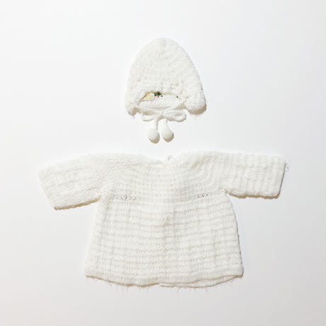 knit cardigan & hat set