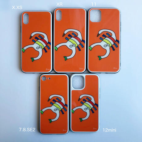 サソリの強化ガラスiPhoneケース