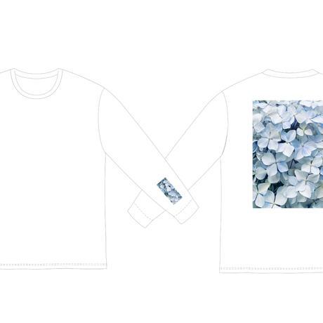 ロングスリーブTシャツ(フラワー・白)