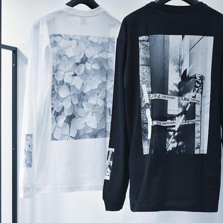 ロングスリーブTシャツ(立入禁止・黒)