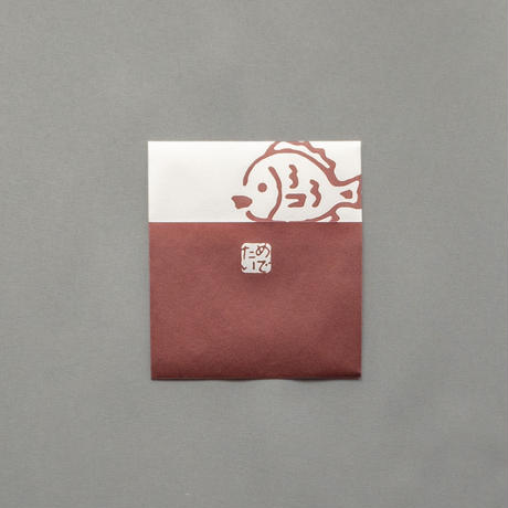 【めでたい】ぽち袋 鯛とだるま(紙幣2つ折りサイズ)