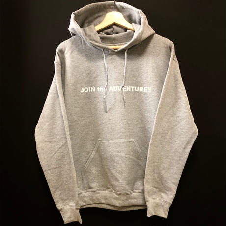 [JOIN the ADVENTURE!!] Hooded sweatshirt  size : S,M,L,XL / sport grey