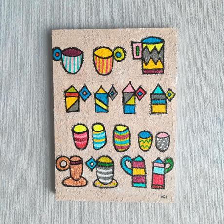 コーヒーカップ  (ポストカード全種類付)