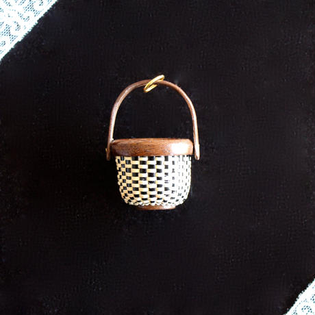 Nantucket Basket 1inch Round 黒