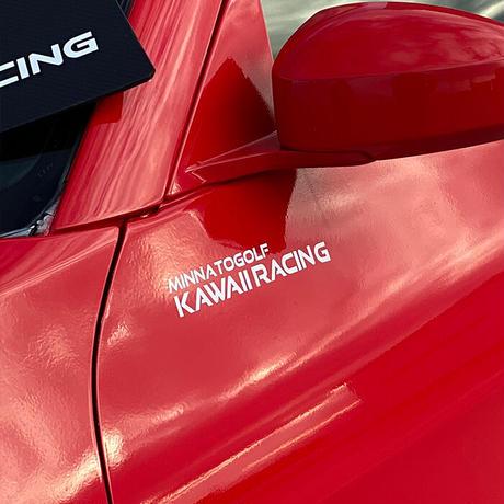 カッティングステッカー「KAWAII RACING」Mサイズ(中)