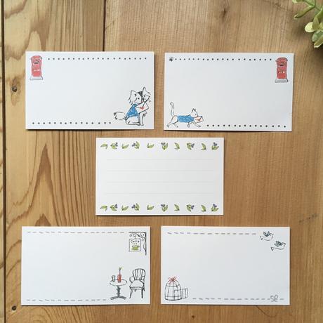 手描き風イラスト*ミニカード/草花/6枚