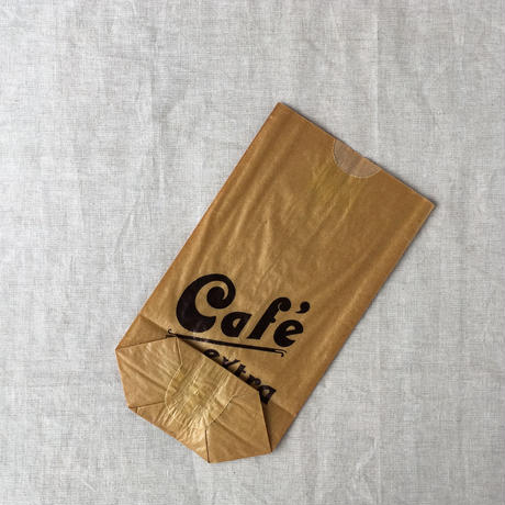 【フランス】ヴィンテージ紙袋/底マチ/cafe