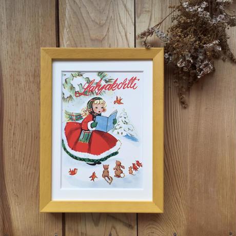 フィンランド/メッセージカード入りフォトフレーム/森の女の子