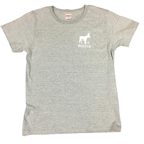 OSAKA ROOTS ロバTシャツ 【レディースLサイズ】グレー