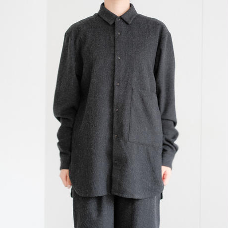 wool small-collar pocket shirt (cr-20203)