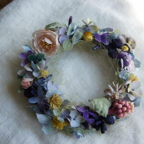 寄せ花のリース