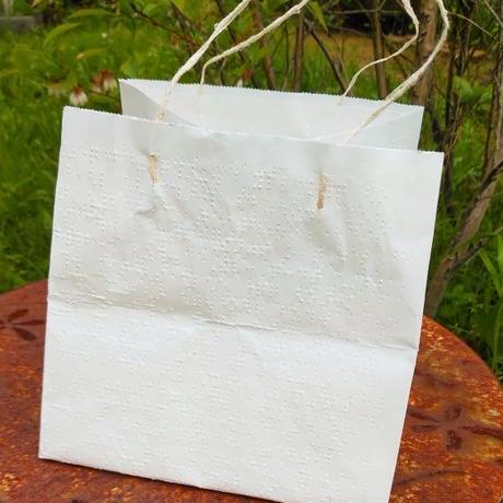 アップサイクル点字紙のエシカル手提げ袋 *次回発送 6月24日(木)25(金)