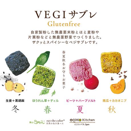VEGIサブレ(春夏秋冬お守りお菓子)