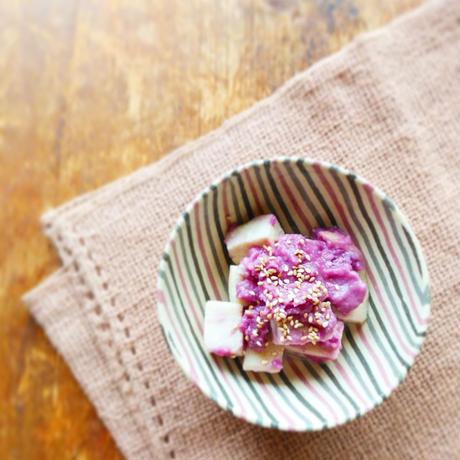 落花生と紫芋の玄米甘酒白味噌入りペースト*次回発送 12月10日(木)11日(金)*ラストオーダー7日(月)