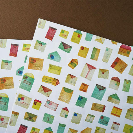 futo futo paper / 封筒柄のA4サイズペーパー