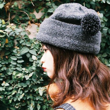 ゆれるポンポン帽子 B.charcoalgray
