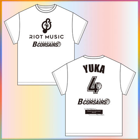 RIOT MUSIC×横浜ビー・コルセアーズ スポーツTシャツ(長瀬有花)