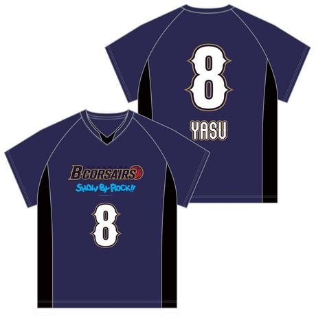 SHOW BY ROCK!! × 横浜B-CORSAIRS レプリカユニフォーム(Tシャツ) - ヤス
