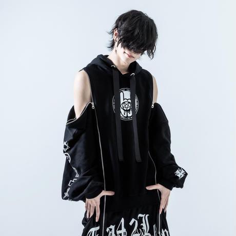 42 - 聖像 / Shoulder Zip Wide Sleeve Parka