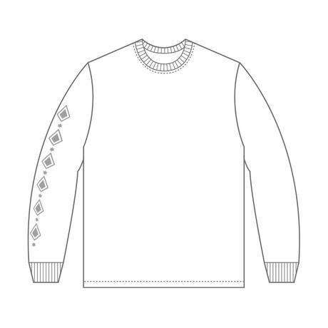 """42×花鋏キョウ """"鋏"""" Long Sleeve shirts(WHT)"""