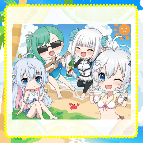 シロ&神楽組セット(キャンバスアート、缶バッチ4種)