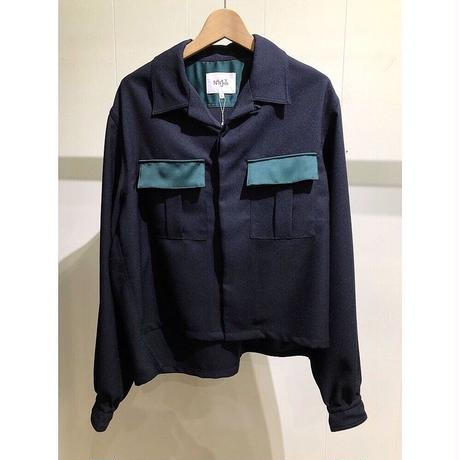 NuGgETS / Open-necked-shirt ''Combination'' /  size:Free