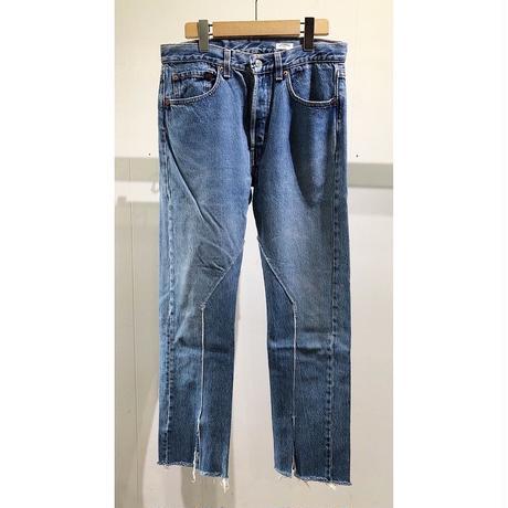 "OLDPARK  /  Slit Jeans  #Blue ""F"" / size:M"