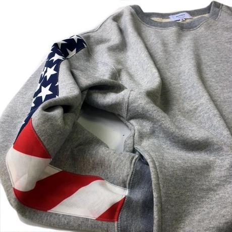 apoidea / Flag Sleeve Crew Neck Sweat