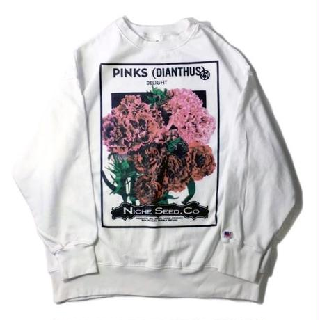 niche.USA  / Flower Seeds Crew Neck Sweat-PINKS