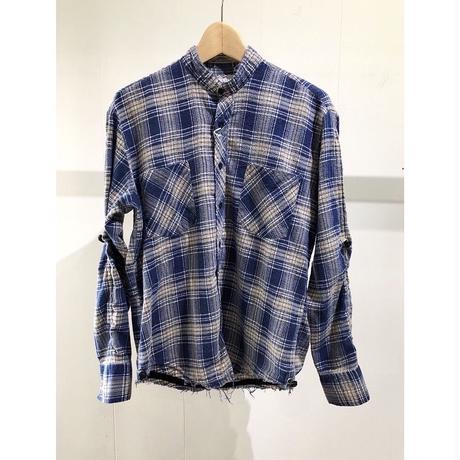 OLDPARK  /  Shirring shirt #Blue / size:Free