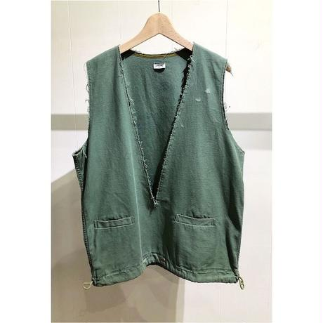 OLDPARK  /  Laundry vest - V neck  #Green / size:Free